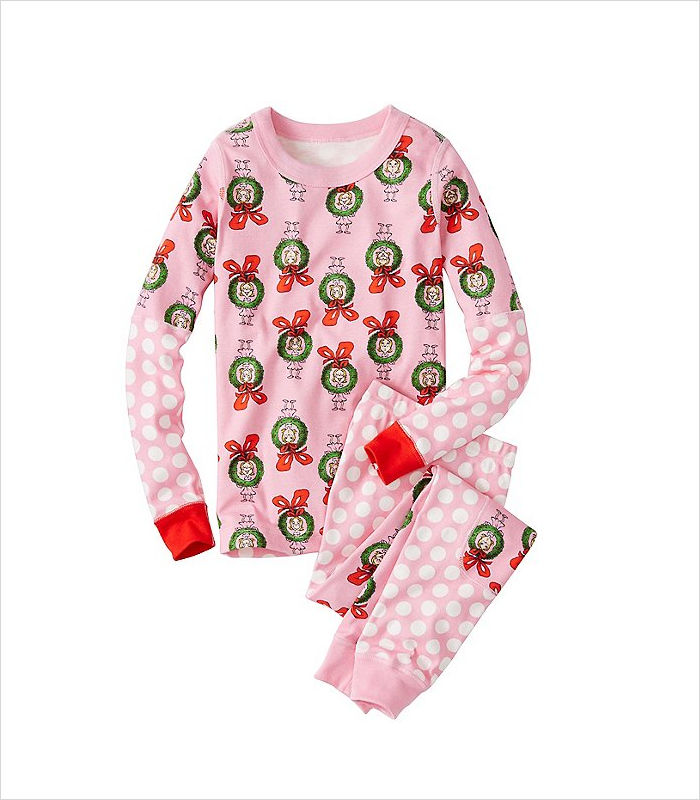 Warm, Fuzzy and Totally Cute Christmas Pajamas for Kids - Christmassy in pink