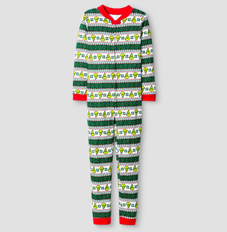 Warm, Fuzzy and Totally Cute Christmas Pajamas for Kids - Inspired by the Grinch, loved by kids.