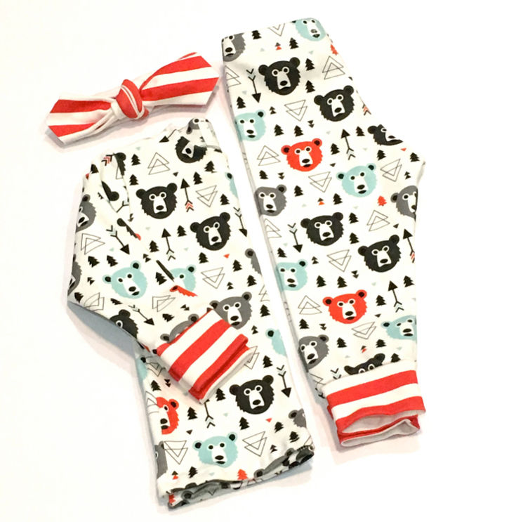 Warm, Fuzzy and Totally Cute Christmas Pajamas for Kids - Bear hugs!