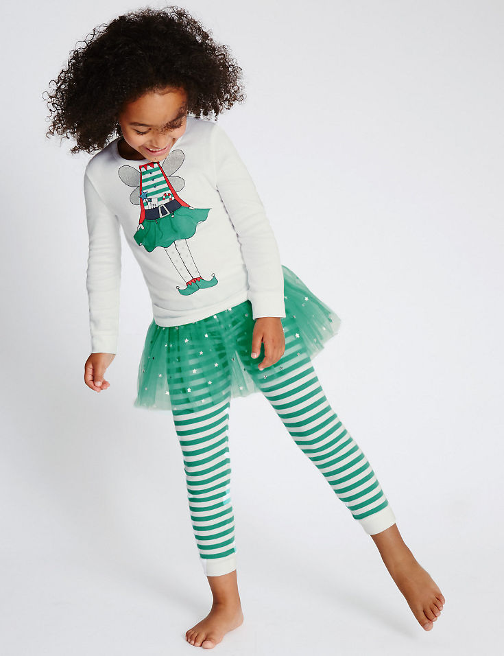 Warm, Fuzzy and Totally Cute Christmas Pajamas for Kids - All the charm of Christmas, finished off with an adorable tutu