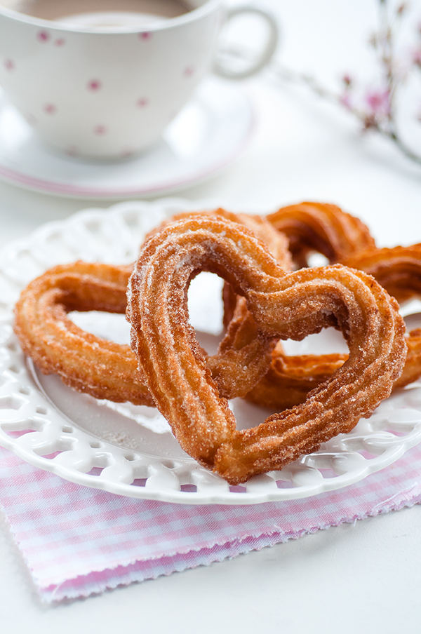 11 Heart Shaped Snacks and Treats Featuring Heart Shaped Churros (via Supergolden Bakes)
