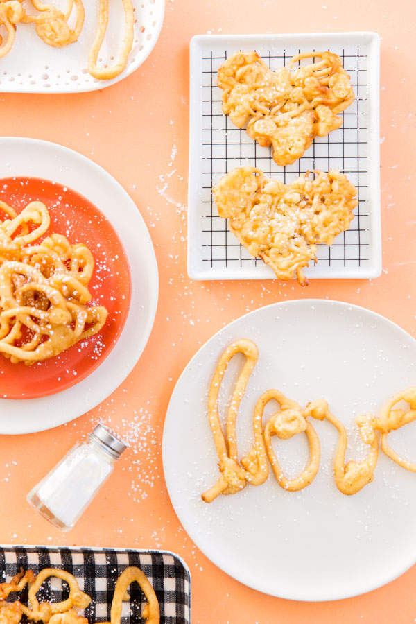 11 Heart Shaped Snacks and Treats Featuring Funnel Cake Love Letters (via Paper n Stitch)