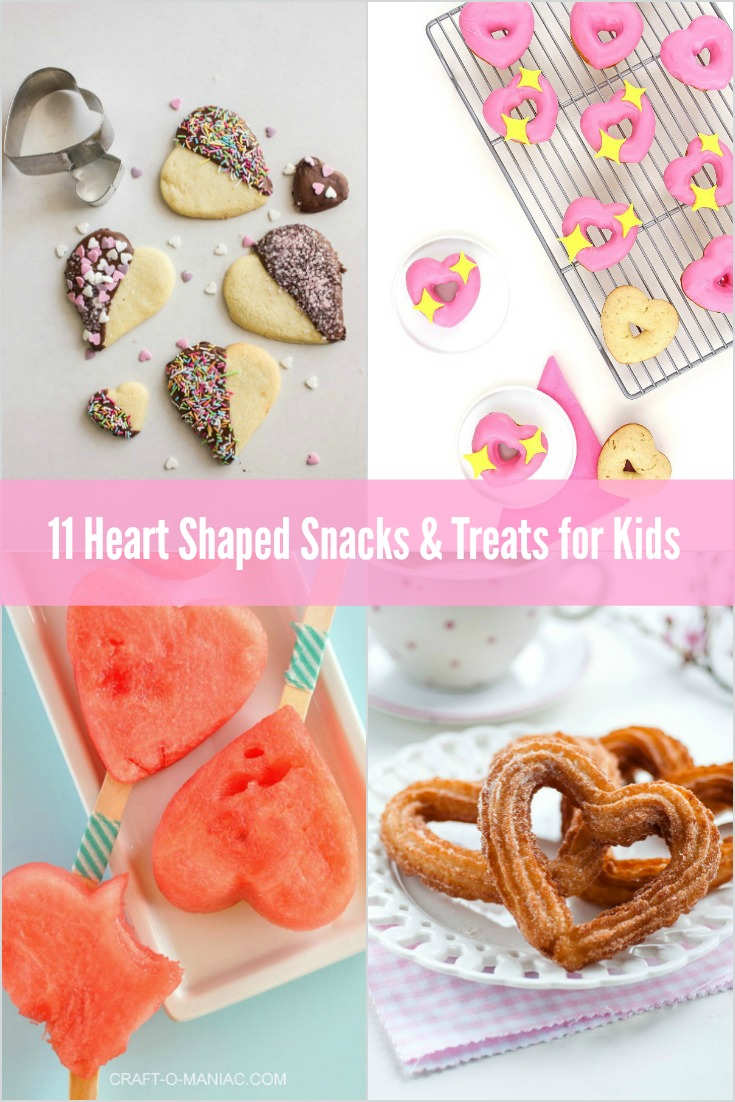 11 heart shaped snacks a you can make with your wee loved ones