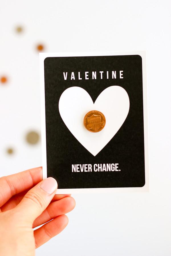 16 Last Minute Valentine Printables featuring Coin Valentine (via Delia Creates)