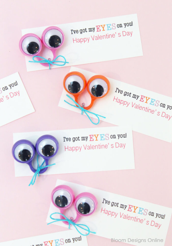 16 Last Minute Valentine Printables featuring 'I've Got My Eyes On You' Valentine's Printable (via Bloom Design Online)