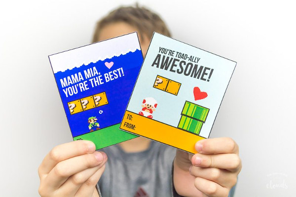 16 Last Minute Valentine Printables featuring Mario Valentine (via The Kiwi in the Clouds)
