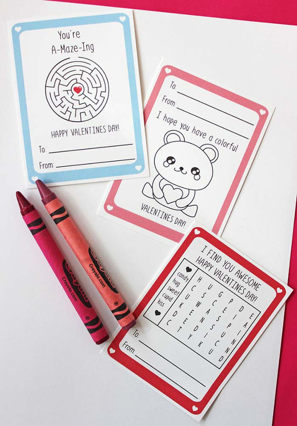 16 Last Minute Valentine Printables featuring Valentine Printable for Kids (via Sunny Day Family)