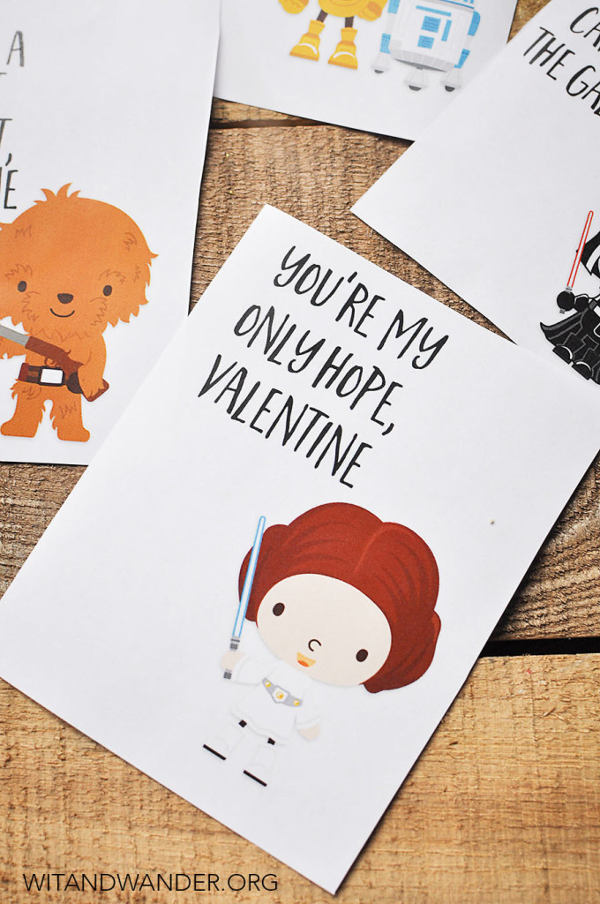 16 Last Minute Valentine Printables featuring Star Wars Valentine (via Wit and Wander)