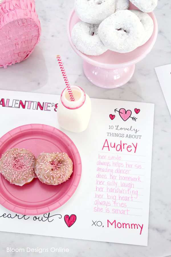 Valentine's lunch with all their favorite nibbles, a cup of cool milk and THIS. 16 Last Minute Valentine Printables featuring Lil Luna / Bloom Designs