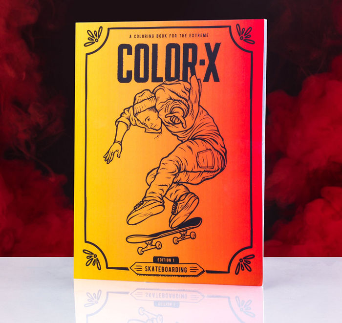 Skateboard coloring book - cool gift for teenage tomboys