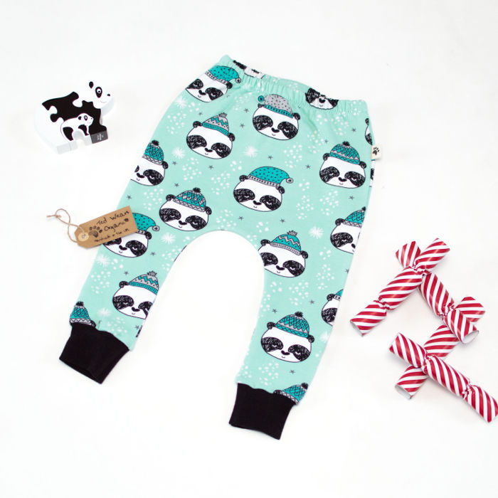 Hey there. Yes you. Come check out the cutest Christmas leggings for toddlers and babies. Think reindeer, and pandas and... trees. We'll wait.