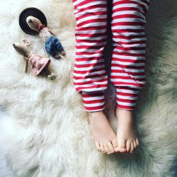 Christmas leggings for toddlers - stripey harem pants