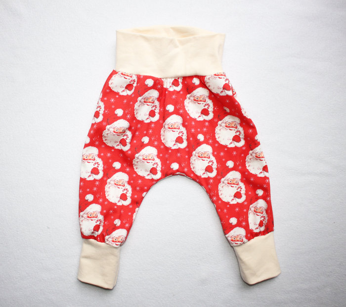 Christmas leggings for toddlers - Santa harem pants