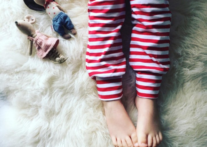 Christmas leggings for toddlers - candy cane pants